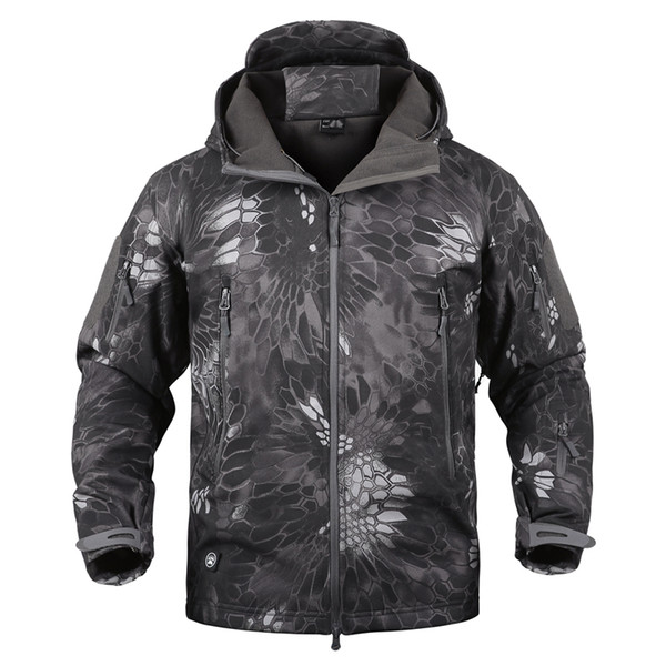 Dropshipping Lurker Shark Skin Softshell V5 Tactical Jacket Men Waterproof Coat Camouflage Hooded Army Camo Clothing