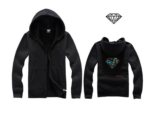 New Style Lettering and diamond print Men hoodie women street fleece warm sweatshirt winter autumn fashion hoodies sweatshirts H06