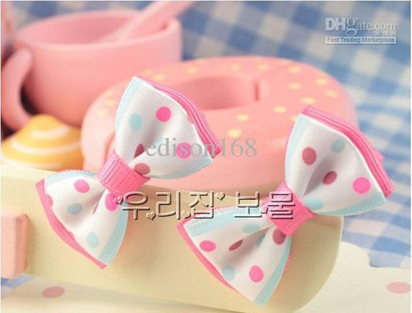 2018 New Baby barrette bow BB clip hair accessories card issuing princess headdress 50pcs