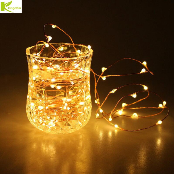 Kingoffer Led Christmas Light 2m 20 Leds Battery Operated Mini Led Copper Wire String Fairy Light For Wedding Xmas Garland Party String Lights Led