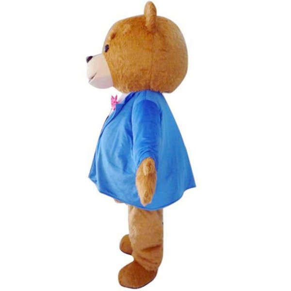 2016 Teddy TED Bear Adult Size Cartoon Mascot Costume FancDress Outfit 3 Model