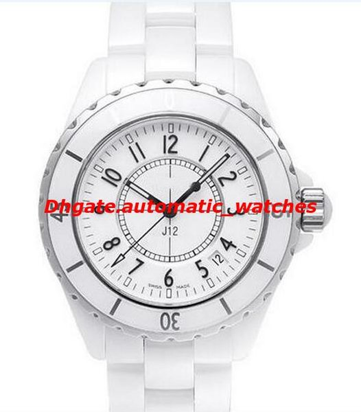 Luxury Watches NEW Men's H0970 White/Black Ceramic 38mm Automatic Day Brand NEW Scratch Resistant Sapphire Cool Mens Women Watches