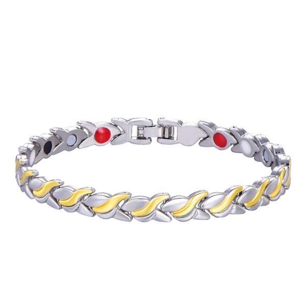 best selling Unisex Health Energy Germanium Magnetic Bracelet for women Men Fashion Copper Jewelry Chain Link Bracelet Bangle drop shipping wholesale