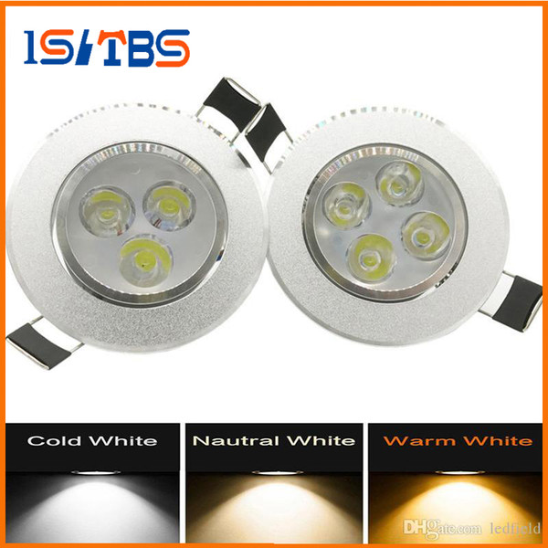 top popular Led Downlights 9W 12W Dimmable No dimmable led Bulbs 85-265V Recessed lighting with led driver Indoor Lighting 3years warranty 2019