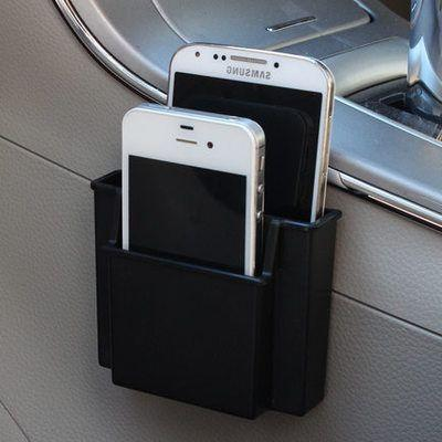 2 Parça Benzersiz multi-fonksiyonel Mini Araba Cep Telefonu Tutucu Cep Telefonu Şarj Raf Kutusu Cep Organizatör Araba Koltuğu Çantası Depolama