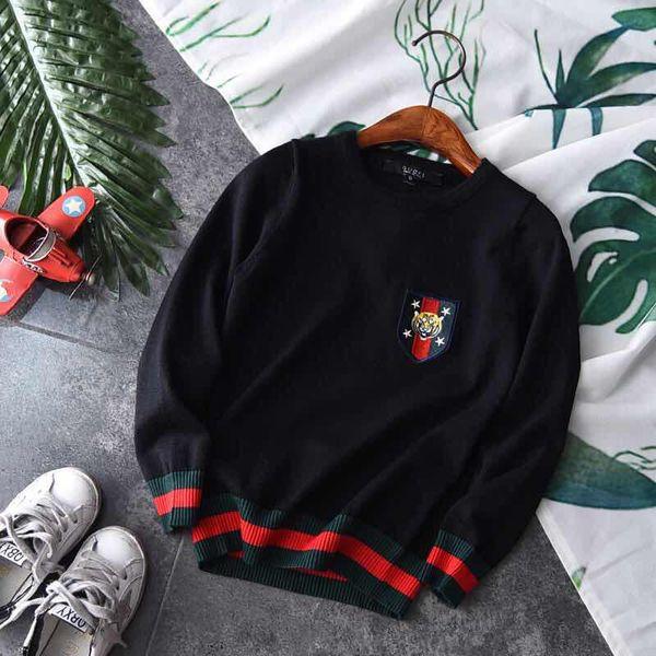 Pullover ragazza autunno Autunno Abbigliamento per bambini Honeybee Nuovo modello nei bambini Thin Money Easy Stripe Pure Cotton Knitting Sweater Tide