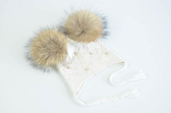 White natural fur