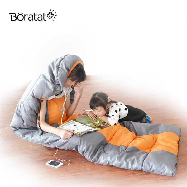 Sleeping Bag Outdoor Camping Accessories Tourist Equipment Double Outdoor Thickening Widened Four Seasons Lazy Bed