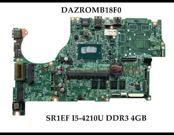 High quality DAZROMB18F0 for ACER Aspire V5-573 V5-573P Laptop Motherboard SR1EF I5-4210U DDR3L 4GB 100% Fully Tested