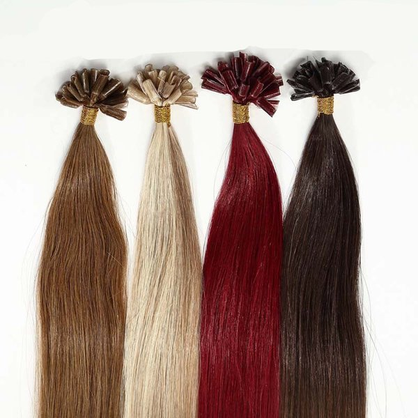 ELIBESS HAIR Extensions de pointe de kératine U 14 '' - 26 '' 0.8g / pcs 200s / lot Remy cheveux brésiliens fusion chaude fusion à froid