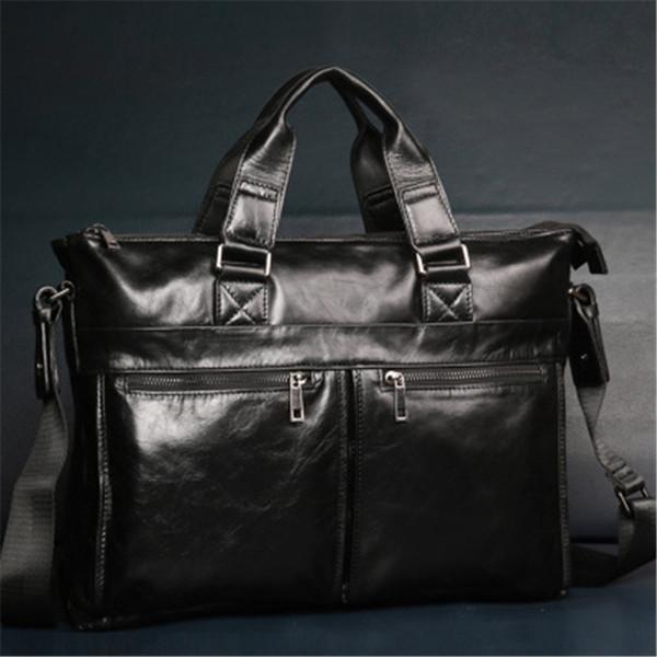 ALAVCHNV новый мужской бизнес первый слой кожаный портфель ручной мужская ретро плечо диагональ пакет M917