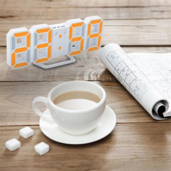 New Arrival 1PC Modern Digital LED Table Desk Night Wall Clock Alarm Watch 24 or 12 Hour Display High Quality Digital LED clocks