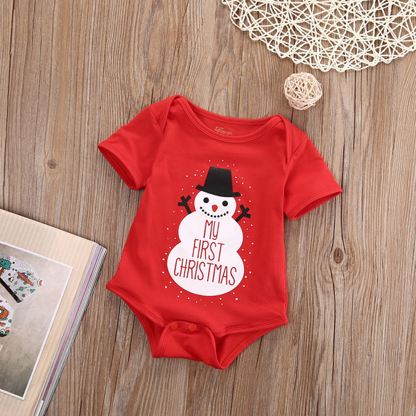 2018 Multitrust Hallowee Newborn Baby Kids Girls Boys Merry Christmas Romper Santa Claus and snowflakes Jumpsuit Outfit Set Y18102907