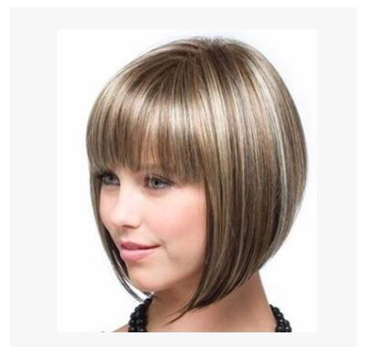 Cross border European and American wig lady short curly hair chemical fiber high temperature wig head set of Amazon manufacturer