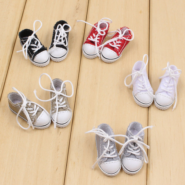 Cheap Dolls Blyth doll fabric shoes with five differents color for suitable for 1/6 JOINT body doll