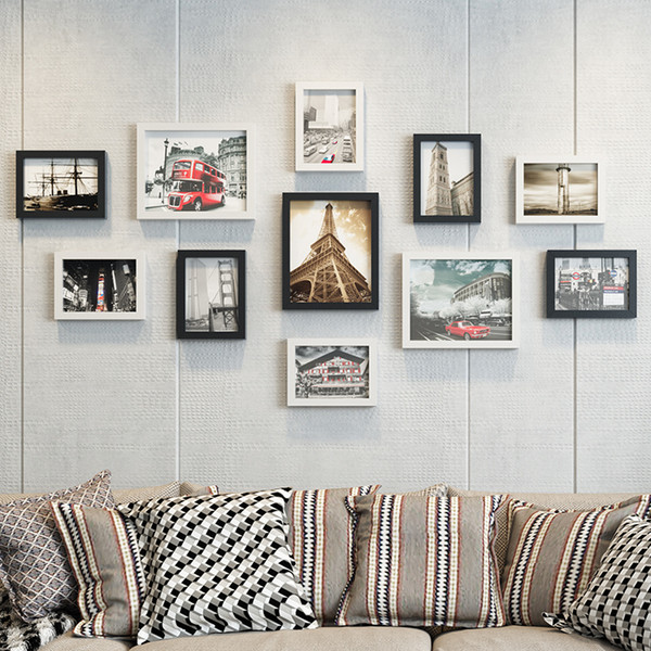 Phenomenal 2019 Black White Photo Frame For Sofa Wall Decor Rectangle Picture Frames For Paintings Hanging Photo Frame Set Wedding Home Decor Foto From Machost Co Dining Chair Design Ideas Machostcouk