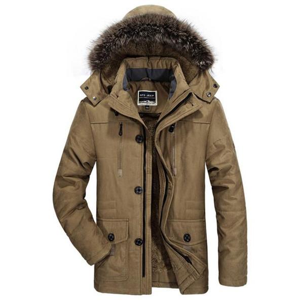 winter new jacket Men Plus velvet thickening warm Windproof jacket men's casual hooded jacket coat size L-4XL 5XL 6XL