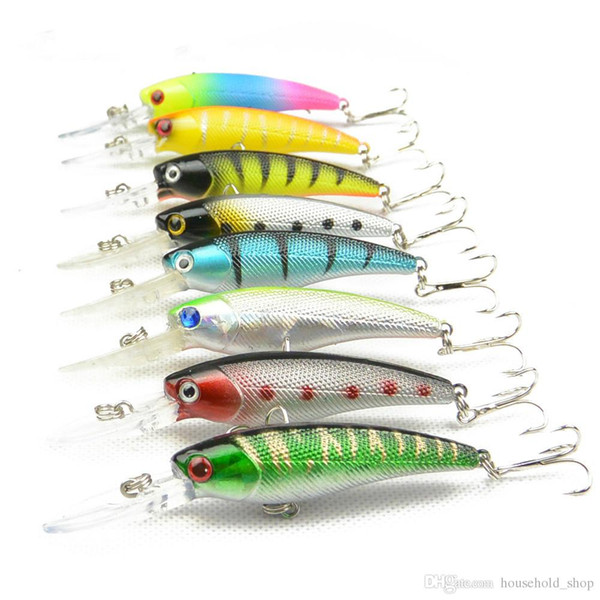 Creative Bionic Bait Fishing Lures Copy Real Fish Plastic Baits Lifelike Fish Hollow Body Tight Bait Pesca 8 Colors A Set