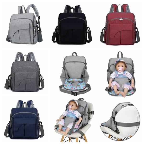 USB Wickeltasche 5 Farben Mutterschaft Reise Rucksack Designer Babypflege Kinderwagen Handtasche Babysitz Pflegetasche