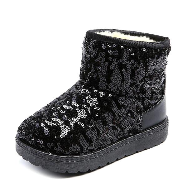 Kış Isıtıcı Bebek Ayakkabıları Erkek Kız Çizmeler Çocuk Kar Botları Pamuk Çizgili Çocuklar Yumuşak Ayak Bileği Kız Patik Prenses Ayakka ...