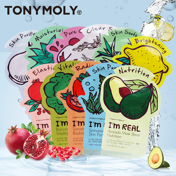 I'm REAL Skin Care Food Sheet Face Mask Moisturizing Oil Control Shrink Pores 11 Kinds TONYMOLY TONY MOLY Facial MASKS