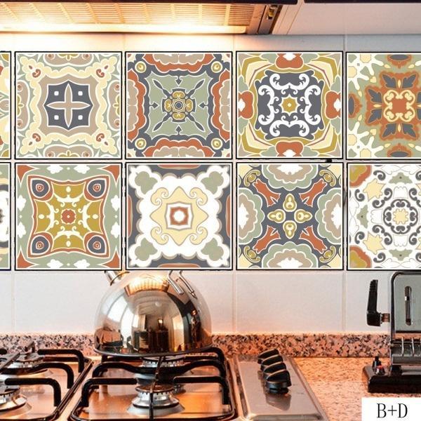piso estilo nordico Compre 100 20 Cm Distintivo Azulejos Pegatinas Barroco Estilo Nrdico Dormitorio Cocina Bao Piso Decoracin Del Hogar Decoracin Mural Calcomanas