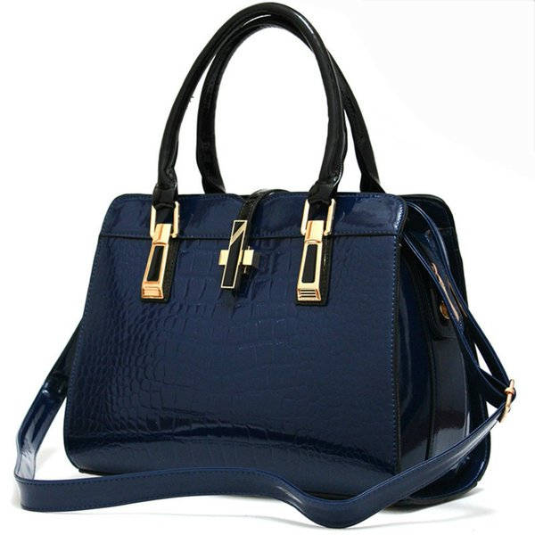 2018 Bags for Ladies Concise Leisure Fashion Handbags Solid Color Wine Red Rose Navy Blue Black White Crossbody Totes