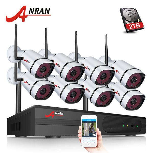 ANRAN новый плагин играть 8-канальный 1080P беспроводной NVR CCTV Kit P2P HD открытый + крытый всепогодный ночного видения WIFI камеры безопасности системы