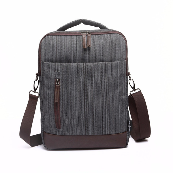 Genuine Leather Canvas Messenger Bag Waterproof Vintage Large Computer Laptop Mens Womens Messenger Bag Briefcase Notebook