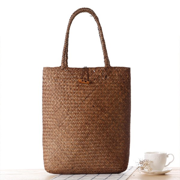 Summer totes Bags For Women 2018 Luxury Handbags Women Bags Designer Famous Brand Ladies Rattan Beach Bag Wicker Straw Bag