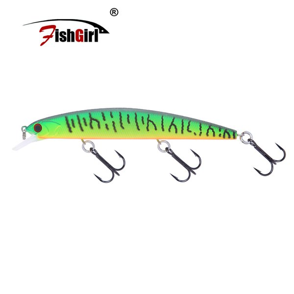 Hot Japan Design Pesca fishgirl Brand Fishing Wobblers Big Minnow Fishing Lure 130mm 20g Hard Artificial Bait Pike Bass Y18100906
