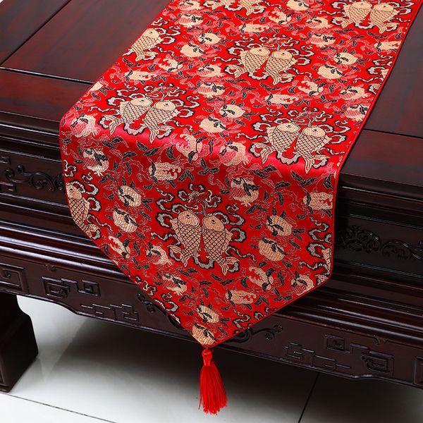 Nuevo Chino-Rojo 100/% Hecho A Mano Estilo Clásico Seda Corredor de la tabla