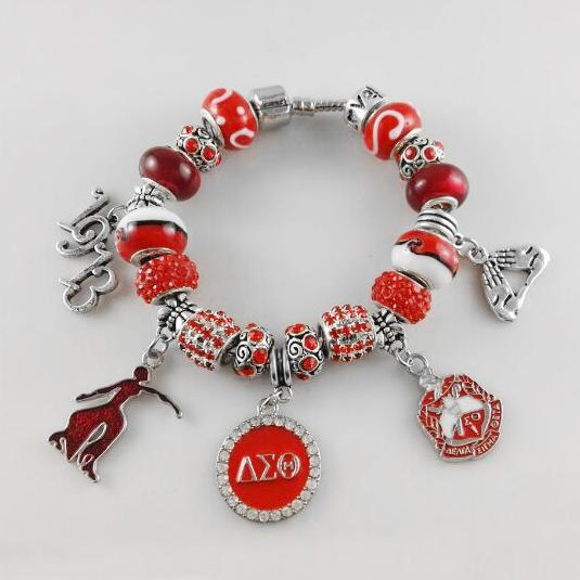 ab549f918 NEW Red Bead Delta Sigma Theta Sorority Founder Lady 1913 Charm ...