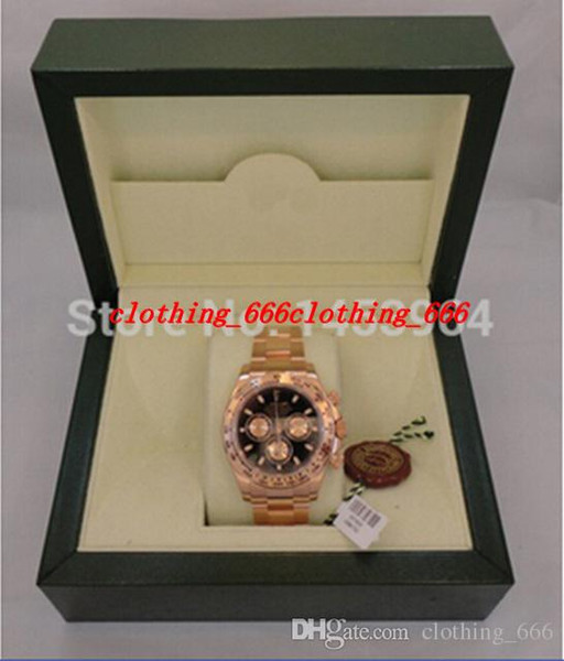 Factory upplier luxury original box 116505 40mm black dial ro e gold tainle teel automatic men men 039 watch watche