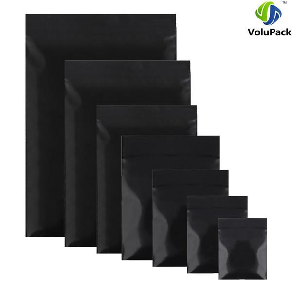 "7x10cm (2.7x3.9"") Brand new 100pcs small plastic ziplock bags Premium Poly Flat Black Plastic Zip Lock Pouches Storage bag"