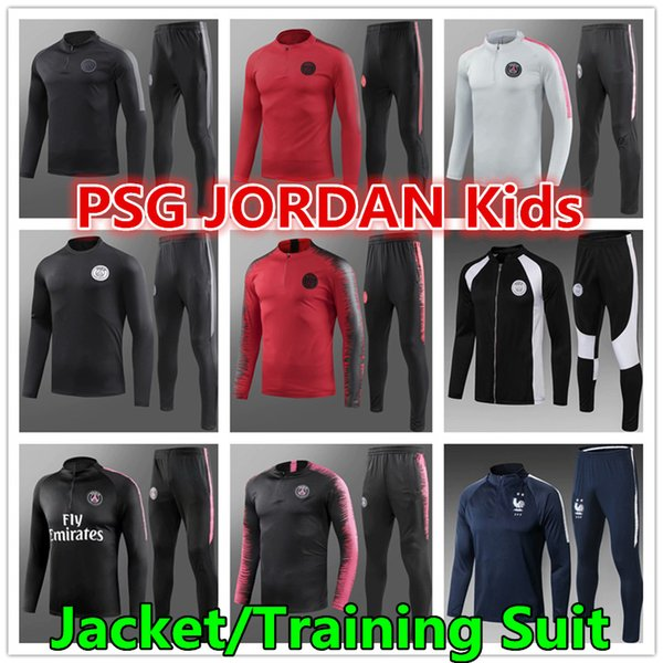 Thai AAA quality 18 19 New PSG MBAPPE NEYMAR Kids training suit 2018 2019 2 Stars GRIEZMANN national team child jacket tracksuit