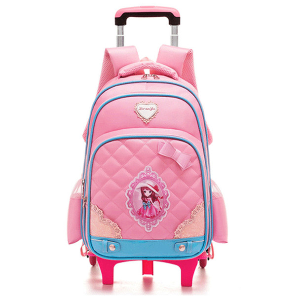 e39f293adb Hot Sales Removable Children School Bags with 2 6 Wheels Child Waterproof  Trolley Backpack Kids