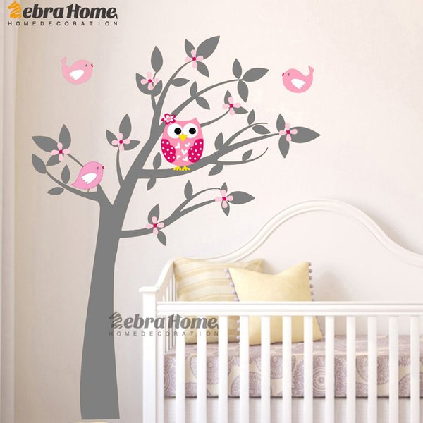 ome Decoration Stickers Posters Wall Stickers Owl Vinyl Tree Wall Sticker Decals Mural Wallpaper Children Kids Baby Room Nursery Bedroom ...