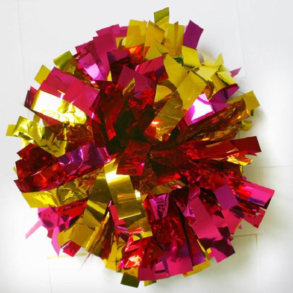 Zymfox Cheerleading Pom, Aeróbica Show Dança Mão Flores, Cheerleader Pom Poms Flor, Bolas Torcendo Pon Pons, Dancing Pompon, 100G