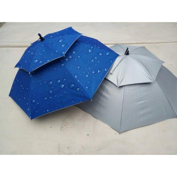 Outdoor Large double-deck Cycling Fishing Hiking Beach Camping Women Men Sunshade Sunny Rainy anti-UV Umbrella Hat Cap Umbrellas