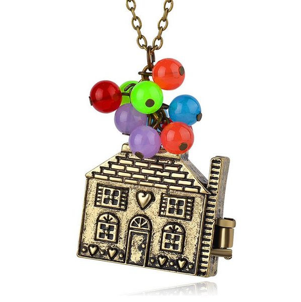 """Wholesale western movie necklace """"The adventures of flying house"""" pendant sweater chain children nice birthday gift free ship"""