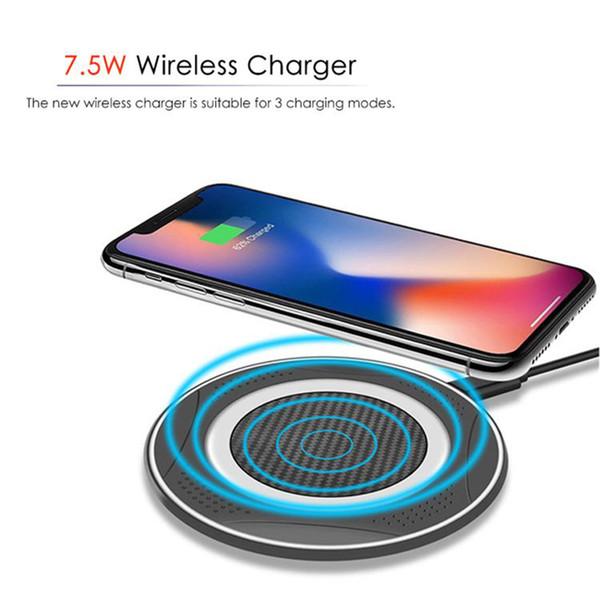 Schnelles drahtloses Ladegerät QI 10W tragbares Aufladungsauflage für Iphone X 8 Samsung-Galaxie S9 S8 S7 S6 plus Rand intelligente Telefonladegeräte