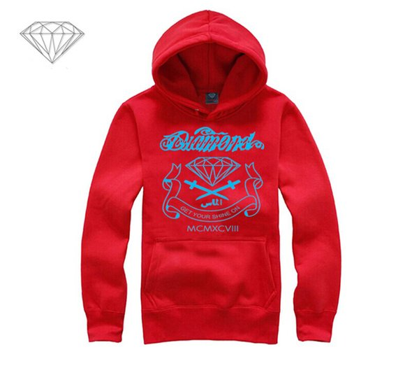 Diamond Supply hoodie for men free shipping diamonds hoodies hip hop brand new 2018 sweatshirt men's clothes pullover M16