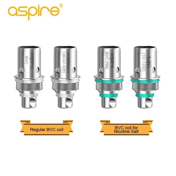 Bobina de repuesto Aspire Spryte original de 1.2ohm 1.8ohm bobinas de bobina bvc regular para kit de aspiración y cigarrillos vape