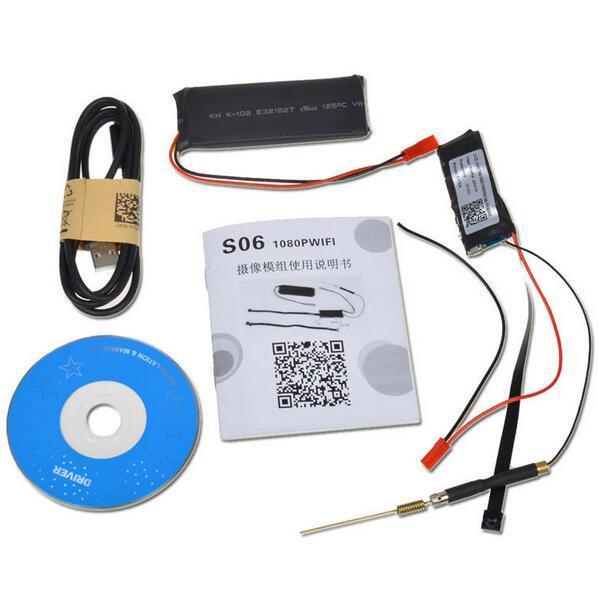 Großhandel 1080P WiFi S06 Mini Kamera DIY Modul IP Indoor Wireless Cam / Pet Baby Monitor / Kindermädchen Cam mit Bewegungserkennung