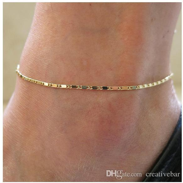 best selling Women Summer Beach Jewelry Full Crystal Anklets Flower Charms Foot Chain Ankle Bracelet Barefoot Sandal Gold Silver