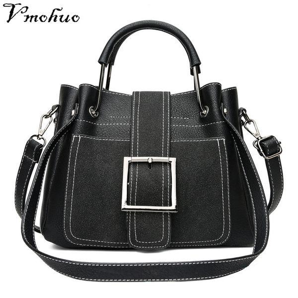 2019 Fashion VMOHUO genuine leather bag female Vintage Shoulder Bags Women Retro Ladies Totes Bag Women briefcase Bag Handbag Bolsa Feminina
