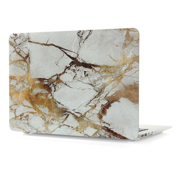 For Macbook 11.6 12 13.3 15.4 Air Pro Retina Touch Marble pattern Cases Full Protective Cover Case with opp packaging Free shipping DHL