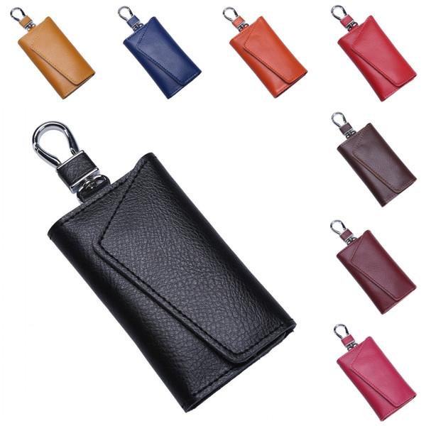 11 Styles Leather Car Key Bag Multi-Function Smart Key Ring Large Capacity Waist Hanging Handbag Wallet Bag For Men Women Free DHL H901F