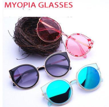 Children eyeglasses boys cute cat ears sunglasses girls candy colors princess accessories 2018 summer new kids cartoon glasses R2444